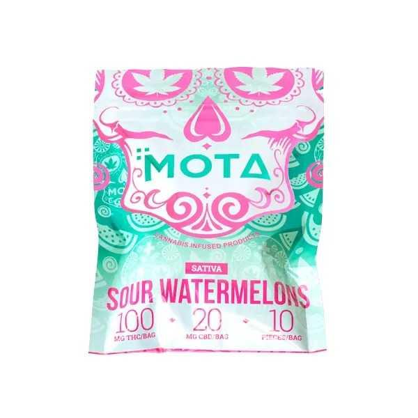 MOTA Sativa Sour Watermelons 100MG THC