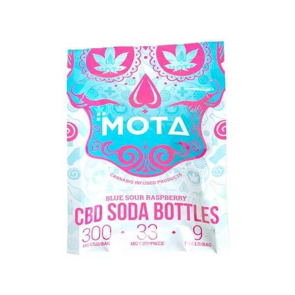 Mota CBD Blue Raspberry Soda Bottles (300mg CBD)