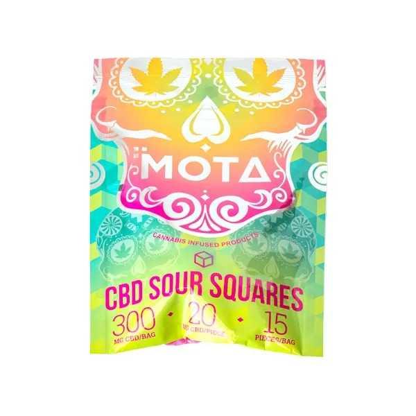 Mota CBD Sour Squares (150mg CBD)