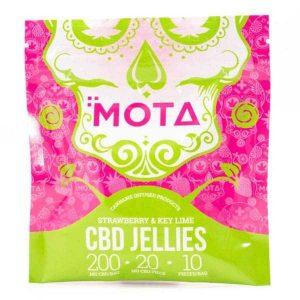 200mg CBD Strawberry and Key Lime Jellies (Mota)
