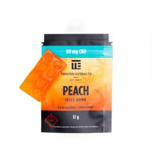 Twisted Extracts Cbd Peach Jelly Bomb