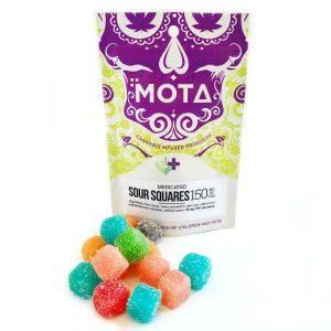 Mota THC Sour Squares (300mg THC)