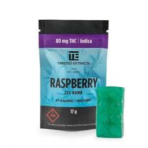 Twisted Extracts Indica Raspberry ZZZ Bomb